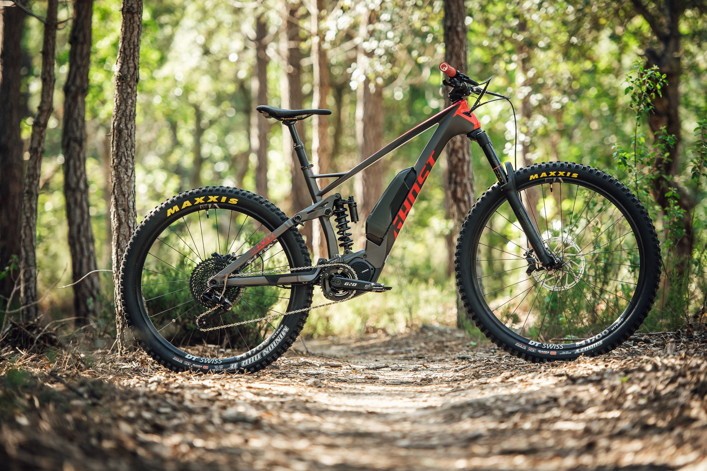 on test ghost hybride sl amr x coil shock carbon dh. Black Bedroom Furniture Sets. Home Design Ideas